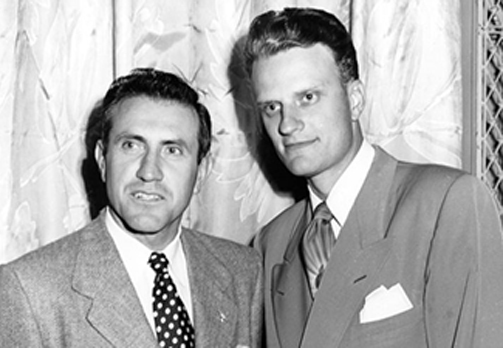 Louis Zamperini with Billy Graham