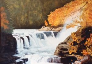lower waterfall painting