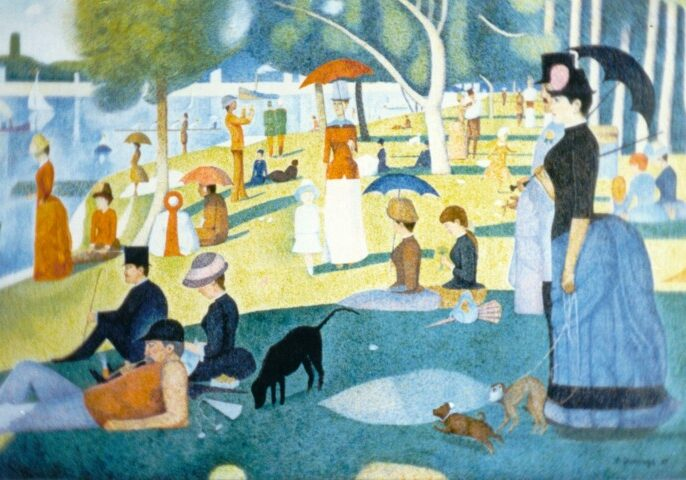 sundy afternoon in the park - redone by Arleen Jennings